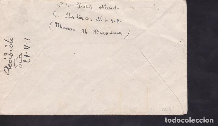 Sellos: F6-39- Rara Carta Membrete FRENTES y HOSPITALES . Manresa- Zaragoza 1939. Censura - Foto 2 - 186463992