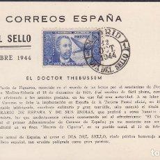 Sellos: F6-43- TARJETA MÁXIMA ORFANATO CORREOS .PRIMER DIA. DIA DEL SELLO 1944. THEBUSSEM. LUJO. Lote 186464155