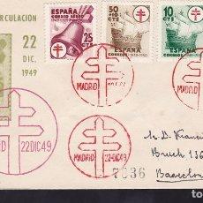 Sellos: F6-44- CERTIFICADO PRIMER DIA TUBERCULOSOS 1949 . MADRID- BARCELONA . LUJO. Lote 186464176