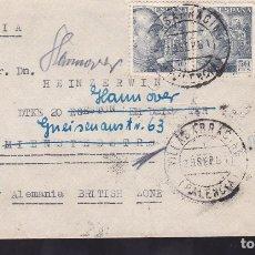 Sellos: F6-44- CARTA BAHILLO VILLASARRACINO (PALENCIA)- ALEMANIA (ZONA BRITÁNICA) 1951. REEXPEDIDA. Lote 186464181