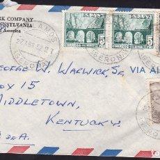 Sellos: F6-45- CARTA PALAMOS GERONA -USA 1952. Lote 186464540