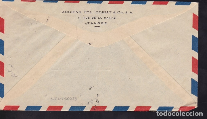 Sellos: F6-45- Carta TANGER-USA 1950 Franqueo Mixto - Foto 2 - 186464547
