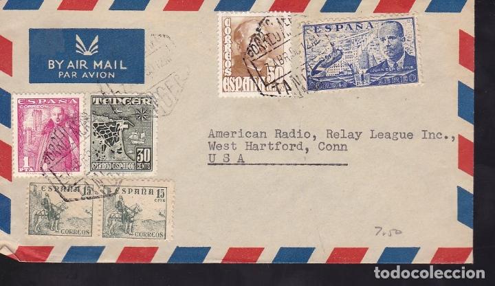 F6-45- CARTA TANGER-USA 1950 FRANQUEO MIXTO (Sellos - España - Estado Español - De 1.936 a 1.949 - Cartas)
