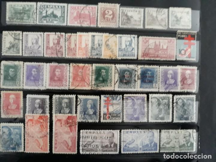Sellos: LOTE 122 SELLOS DISTINTOS ESTADO ESPAÑOL. USADOS. ESPAÑA 1936-1949. 5 IMAGENES - Foto 2 - 187094340
