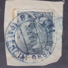Sellos: LL5- FRANCO 50 CTS MATASELLOS AZUL BASCONES DE EBRO PALENCIA. Lote 187502306