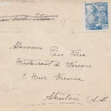 Sellos: PALMA DE MALLORCA - BONITA CENSURA MILITAR - CIRCULADA A MENTON (FRANCIA). Lote 190507560