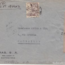 Sellos: BARCELONA - SOBRE CON DOBLE CENSURA: CENSURA GUBERNATIVA Y NAZI - EMPRESA MAS, S.A. - 27 ENERO 1943. Lote 190511307