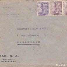 Sellos: BARCELONA - SOBRE CON DOBLE CENSURA: CENSURA GUBERNATIVA Y NAZI - EMPRESA MAS, S.A. - 1943. Lote 190511487