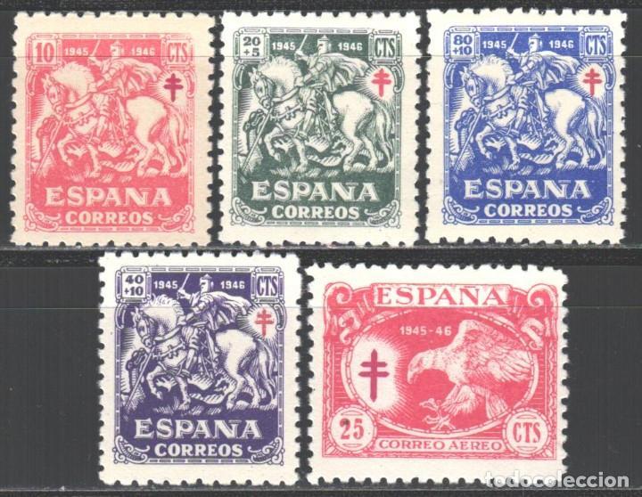 ESPAÑA. 1945 EDIFIL Nº 993 / 997 /*/ PRO TUBERCULOSOS (Sellos - España - Estado Español - De 1.936 a 1.949 - Nuevos)
