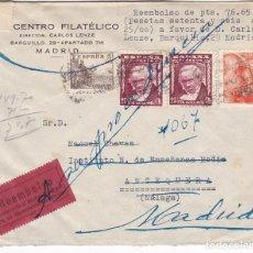 Sellos: F7-20- REEMBOLSO DEVUELTO MADRID -ANTEQUERA 1948. RARO FRANQUEO GOYA + 60 CTS FRANCO S. TODA. Lote 190888176