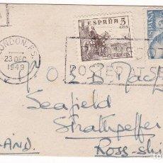 Sellos: F7-22- SOBRE FRANCO MATASELLOS POSTED AT SEA LONDON 1949. Lote 190892388