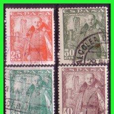 Francobolli: 1948 GENERAL FRANCO Y CASTILLO DE LA MOTA, EDIFIL Nº 1024 A 1032 (O) . Lote 191212536