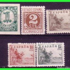 Sellos: 1940 CIFRAS Y CID, EDIFIL Nº 914 A 918 *. Lote 191283987