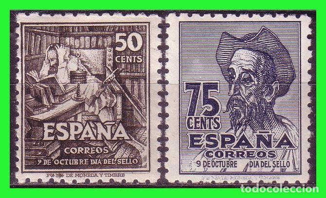 1947 IV CENTº NACIMIENTO DE CERVANTES, EDIFIL Nº 1012 Y 1013 * (Sellos - España - Estado Español - De 1.936 a 1.949 - Nuevos)