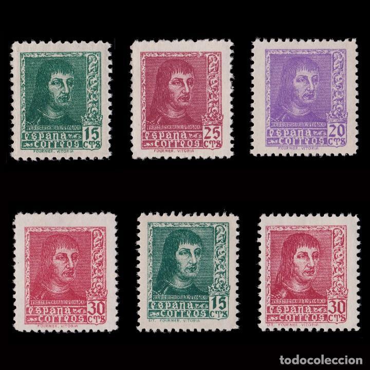 EE.1938.FERNANDO CATÓLICO.SERIE MNH.EDIFIL 841-844 A (Sellos - España - Estado Español - De 1.936 a 1.949 - Nuevos)