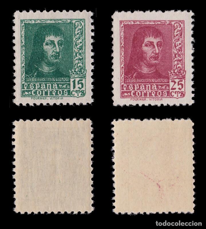 Sellos: EE.1938.Fernando Católico.Serie MNH.Edifil 841-844 A - Foto 2 - 191864252