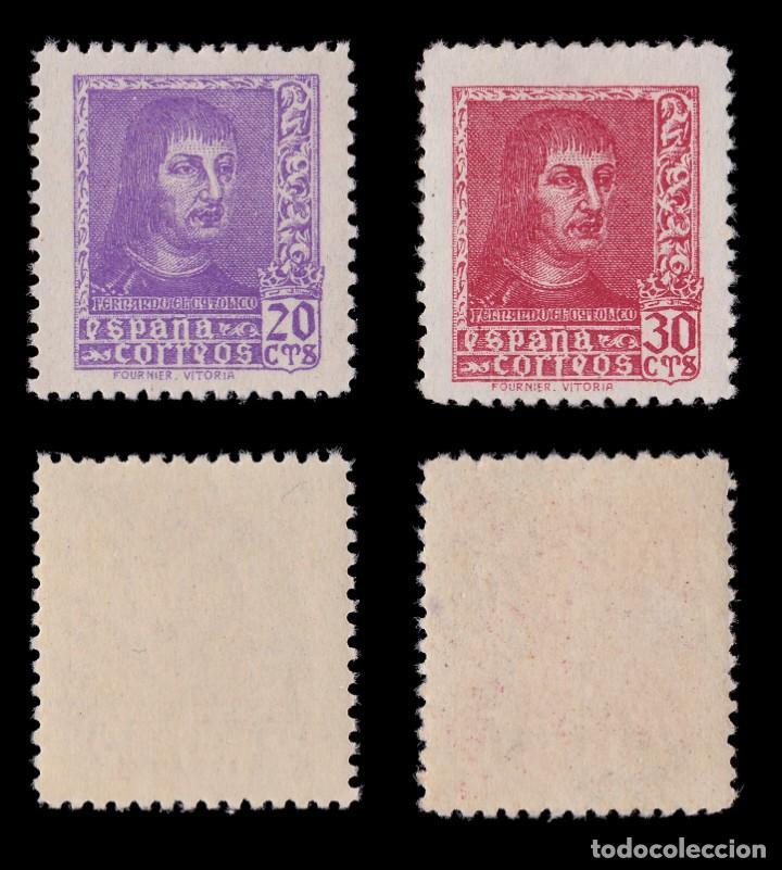 Sellos: EE.1938.Fernando Católico.Serie MNH.Edifil 841-844 A - Foto 3 - 191864252