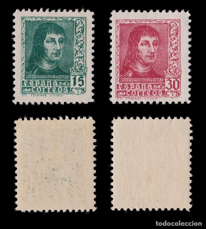 Sellos: EE.1938.Fernando Católico.Serie MNH.Edifil 841-844 A - Foto 4 - 191864252