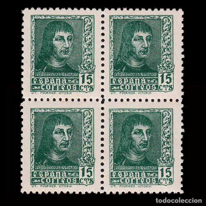 EE.1938.FERNANDO CATÓLICO.15C.BLQ 4. MNH.EDIFIL 841 (Sellos - España - Estado Español - De 1.936 a 1.949 - Nuevos)
