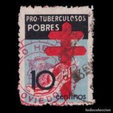 Sellos: EE.1937.PRO TUBERCULOSOS.10C USADO.EDIFIL 840. Lote 191928410