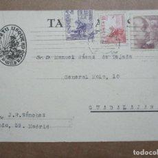 Sellos: CIRCULADA 1949 DE MADRID A GUADALAJARA. Lote 191990021