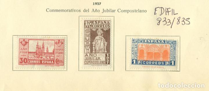 AÑO JUBILAR COMPOSTELANO COMPLETA NUEVOS PEGADOS CON CHARNELA (Sellos - España - Estado Español - De 1.936 a 1.949 - Nuevos)