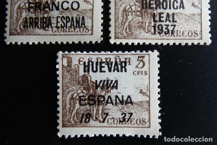 Sellos: ESPAÑA EDIFIL 1044 LOTE 11 SELLOS DIFERENTES SOBRECARGA PATRIOTICA FANTASIA NUEVOS CON TRES 1044t - Foto 3 - 191996993