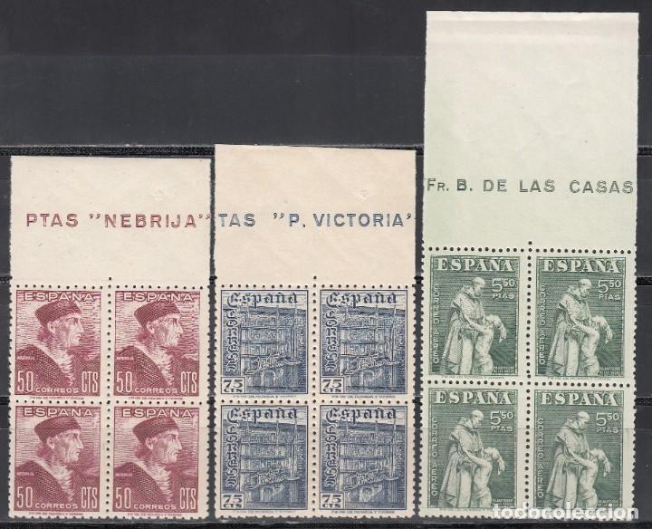 ESPAÑA, 1946 EDIFIL Nº 1002 / 1004 /**/ DÍA DEL SELLOS, BLOQUE DE CUATRO. SIN FIJASELLOS (Sellos - España - Estado Español - De 1.936 a 1.949 - Nuevos)