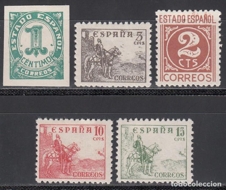 ESPAÑA, 1940 EDIFIL Nº 914 / 918 /*/ CIFRAS Y CID (Sellos - España - Estado Español - De 1.936 a 1.949 - Nuevos)
