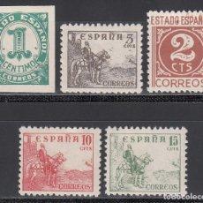 Sellos: ESPAÑA, 1940 EDIFIL Nº 914 / 918 /*/ CIFRAS Y CID . Lote 192022460