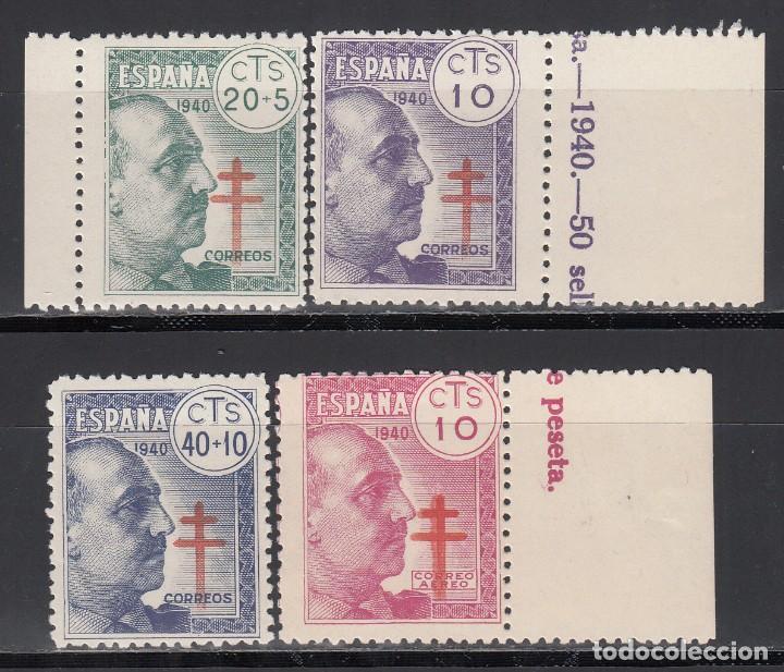 ESPAÑA, 1940 EDIFIL Nº 936 / 939 /**/ PRO TUBERCULOSOS, SIN FIJASELLOS (Sellos - España - Estado Español - De 1.936 a 1.949 - Nuevos)