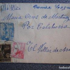 Sellos: SOBRE CARTA CON CURIOSO FRANQUEO ENVIADA A EL VILLAR DE ARNEDO LA RIOJA. Lote 192385041