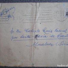 Sellos: SOBRE CARTA ALMALUEZ SORIA CIRCULADA CON SELLO MUTUALIDAD CORREOS. Lote 192385327