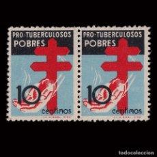 Sellos: 1937.PRO TUBERCULOSOS.10P.BLQ 2.MNH.EDIFIL 840. Lote 192552797