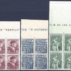 Sellos: EDIFIL 1002-1004 DÍA DEL DELLO. FIESTA DE LA HISPANIDAD (SERIE COMPLETA BLOQUE DE 4). MNH **. Lote 192718890
