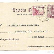 Sellos: TARJETA POSTAL REINTEGRADA - 25-3-1947. Lote 192894546