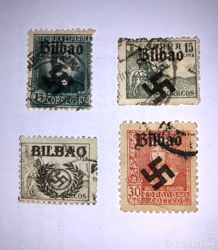 SELLOS AÑOS 1936/37 SOBRECARGA FASCISTA. (Sellos - España - Estado Español - De 1.936 a 1.949 - Usados)
