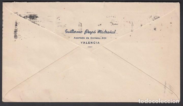 Sellos: Sobre Exposición Filatélica Internacional Basilea, Circulado de Valencia a Alemania, - Foto 2 - 193741362