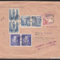 Sellos: SOBRE CERTIFICADO MADRID A MICHIGAN, U.S.A., . Lote 193743203