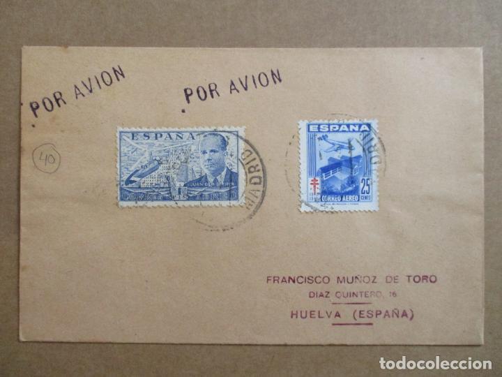 CIRCULADA 1948 DE MADRID A HUELVA (Sellos - España - Estado Español - De 1.936 a 1.949 - Cartas)