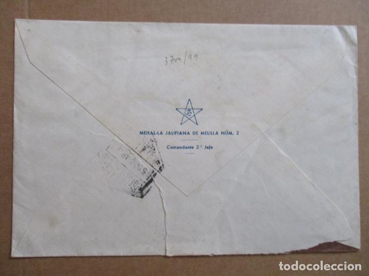 Sellos: circulada 1948 de comandante segundo melillla a sant joan de espi barcelona - Foto 2 - 193942857