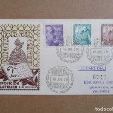 Sellos: CIRCULADA 1949 DE EXPO FILATELICA PAMPLONA NAVARRA A VALENCIA. Lote 193943043