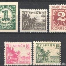 Sellos: ESPAÑA, 1940 EDIFIL Nº 914 / 918 /**/ CIFRAS Y CID. SIN FIJASELLOS. . Lote 193970350