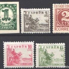 Sellos: ESPAÑA, 1940 EDIFIL Nº 914 / 918 /**/ CIFRAS Y CID. SIN FIJASELLOS. . Lote 193970372