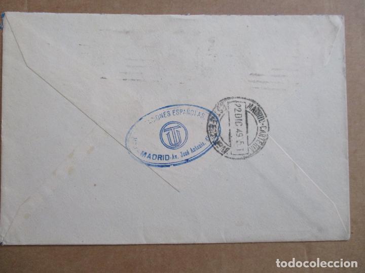 Sellos: MADRID 1949 circulada A MADRID PRIMER DIA - Foto 2 - 193985427