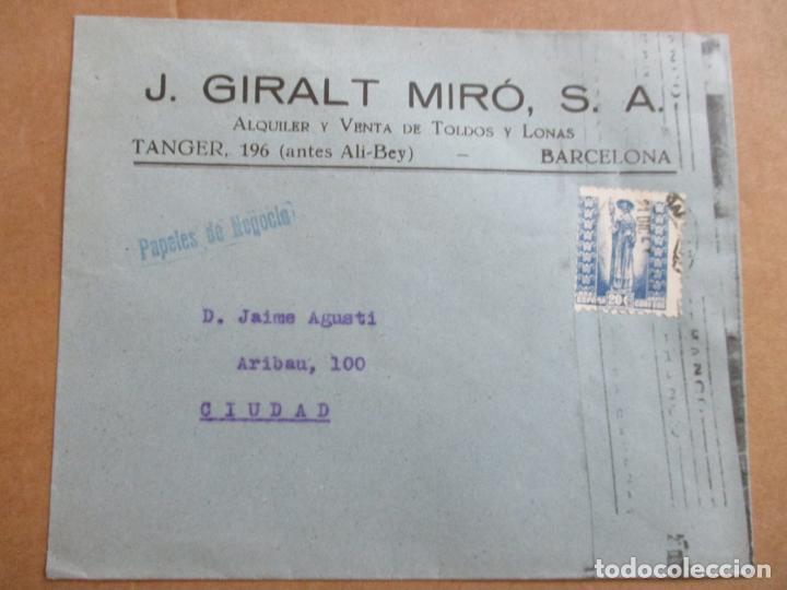 CIRCULADA 1943 DE BARCELONA A BARNA (Sellos - España - Estado Español - De 1.936 a 1.949 - Cartas)