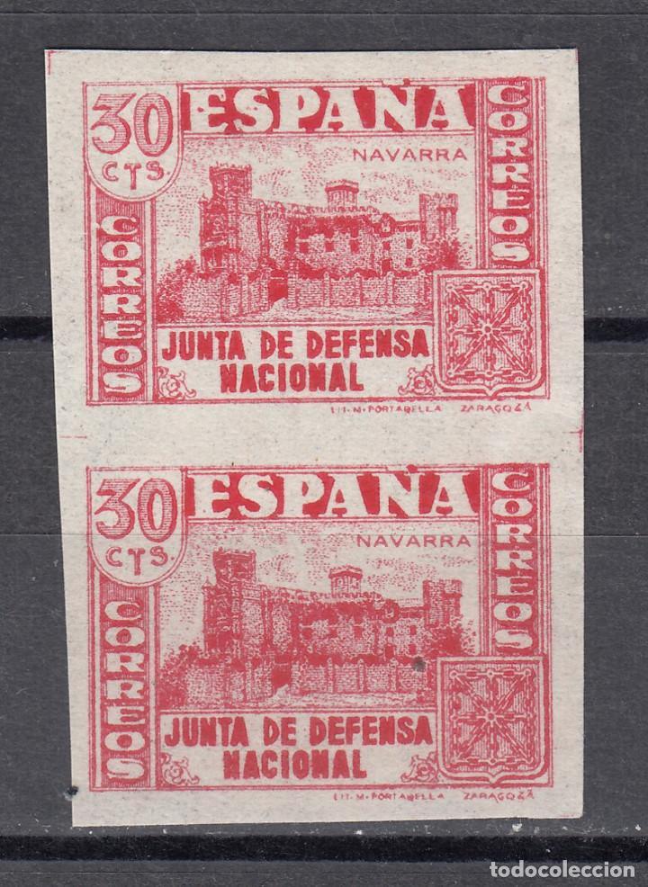 1937 EDIFIL 808S** NUEVOS SIN CHARNELA. SIN DENTAR. PAREJA. JUNTA DE DEFENSA (1219-1) (Sellos - España - Estado Español - De 1.936 a 1.949 - Nuevos)