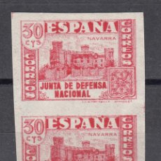 Sellos: 1937 EDIFIL 808S** NUEVOS SIN CHARNELA. SIN DENTAR. PAREJA. JUNTA DE DEFENSA (1219-1). Lote 194153658