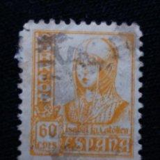 Sellos: ESPAÑA, 60 CMS, ISABEL LA CATOLICA, AÑO 1937. Lote 194233536