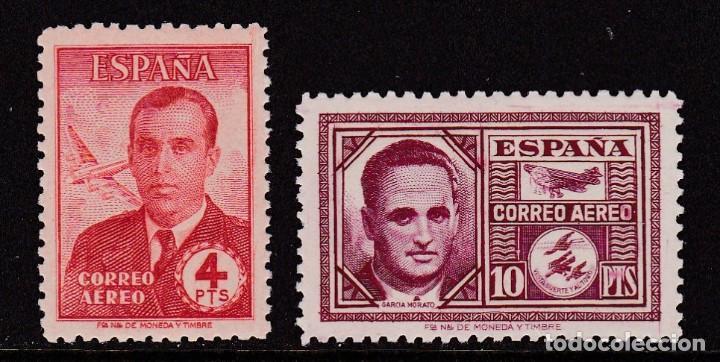 1945. HAYA Y GARCÍA MORATO SERIE COMPLETA NUEVA SIN FIJASELLOS EDIFIL Nº 991/992 (Sellos - España - Estado Español - De 1.936 a 1.949 - Nuevos)